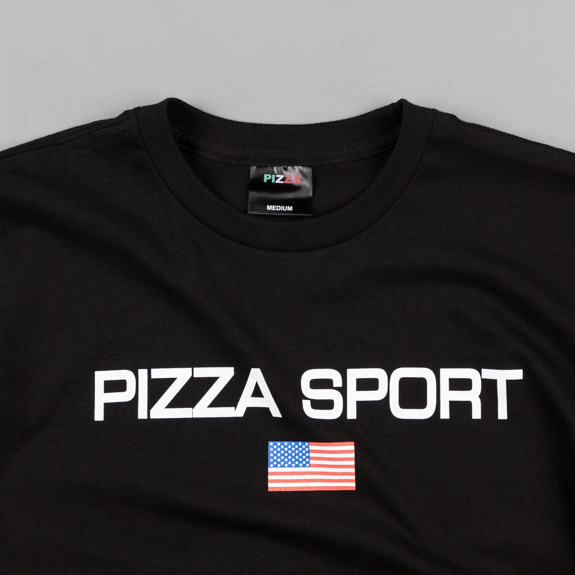Pizza Skateboards Pizza Sport Logo T-Shirt - Black