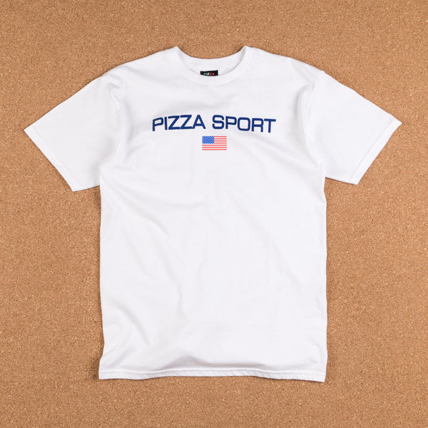 Pizza Skateboards Pizza Sport Logo T-Shirt - White