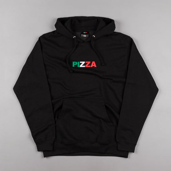 Pizza Skateboards Tri-Colour Logo Hooded Sweatshirt - Black