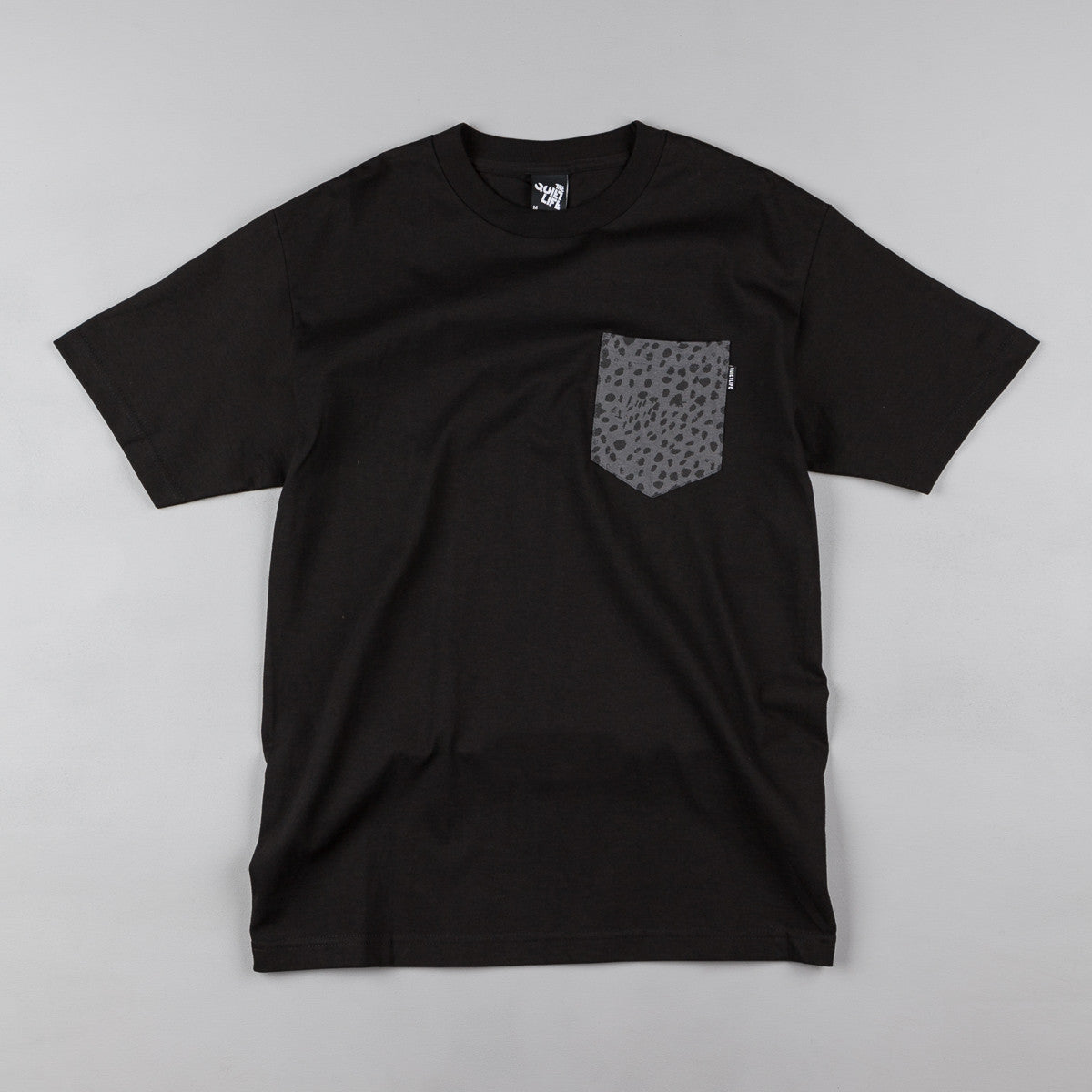 The Quiet Life Dalmation Pocket T-Shirt - Black