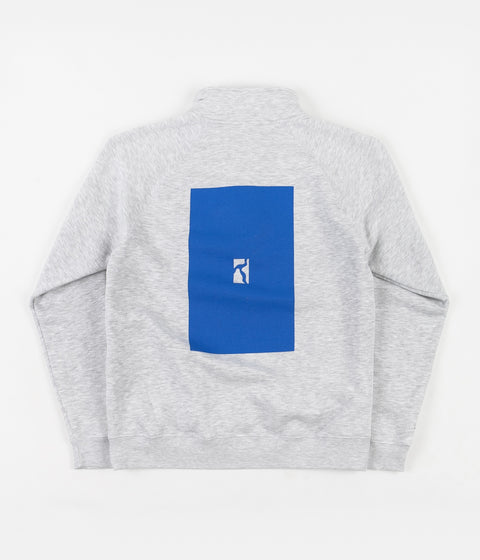 Poetic Collective Box Half Zip Sweatshirt - Grey