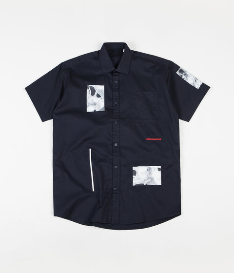 Poetic Collective Fluid Short Sleeve Shirt - Navy