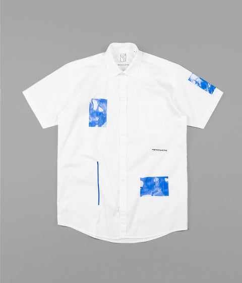 Poetic Collective Fluid Short Sleeve Shirt - White
