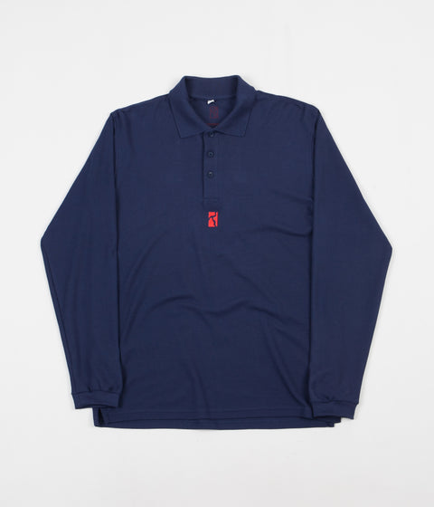 Poetic Collective Piké Long Sleeve T-Shirt - Navy