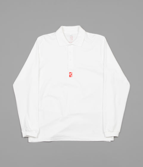 Poetic Collective Piké Long Sleeve T-Shirt - White