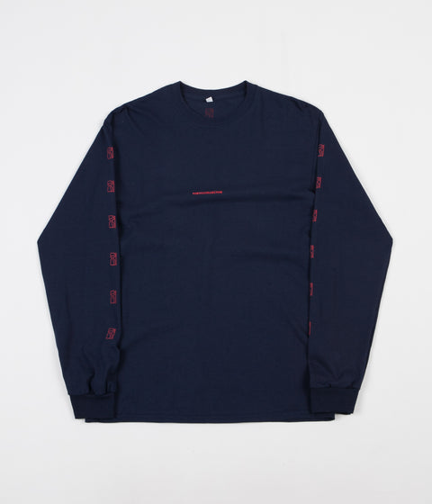 Poetic Collective Repetition Long Sleeve T-Shirt - Navy