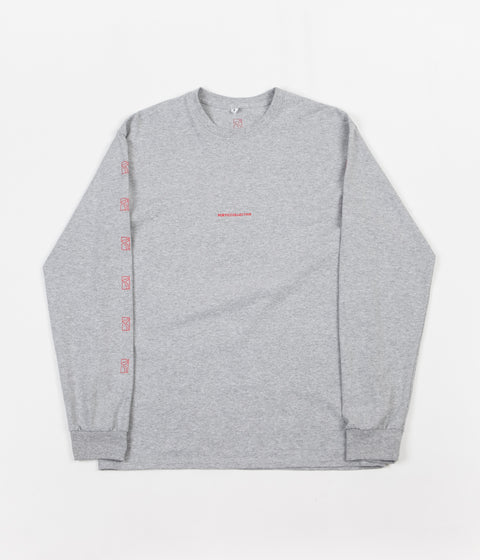 Poetic Collective Repetition Long Sleeve T-Shirt -  Sport Grey