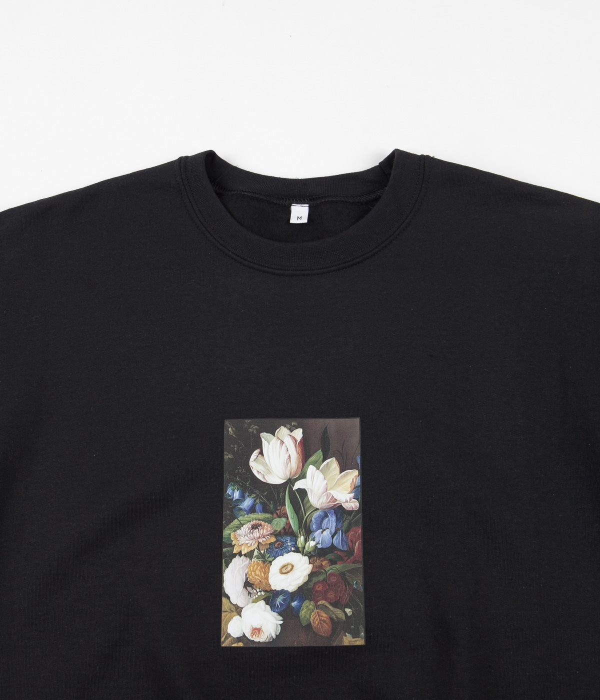 Poetic Collective Still Life Crewneck Sweatshirt - Black