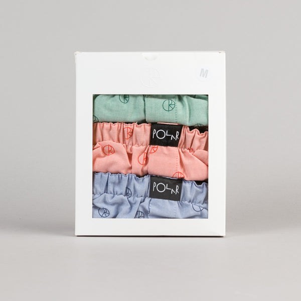 Polar 3 Pack Boxer Shorts - Blue / Peach / Mint