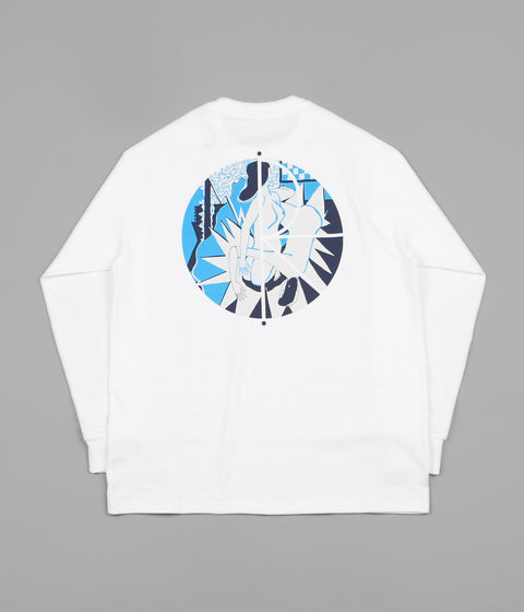 Polar 69 Fill Logo Long Sleeve T-Shirt - White