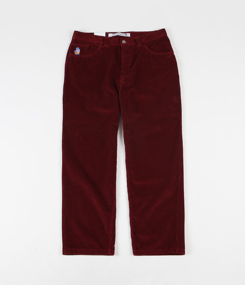 Polar 93 Cord Trousers - Red