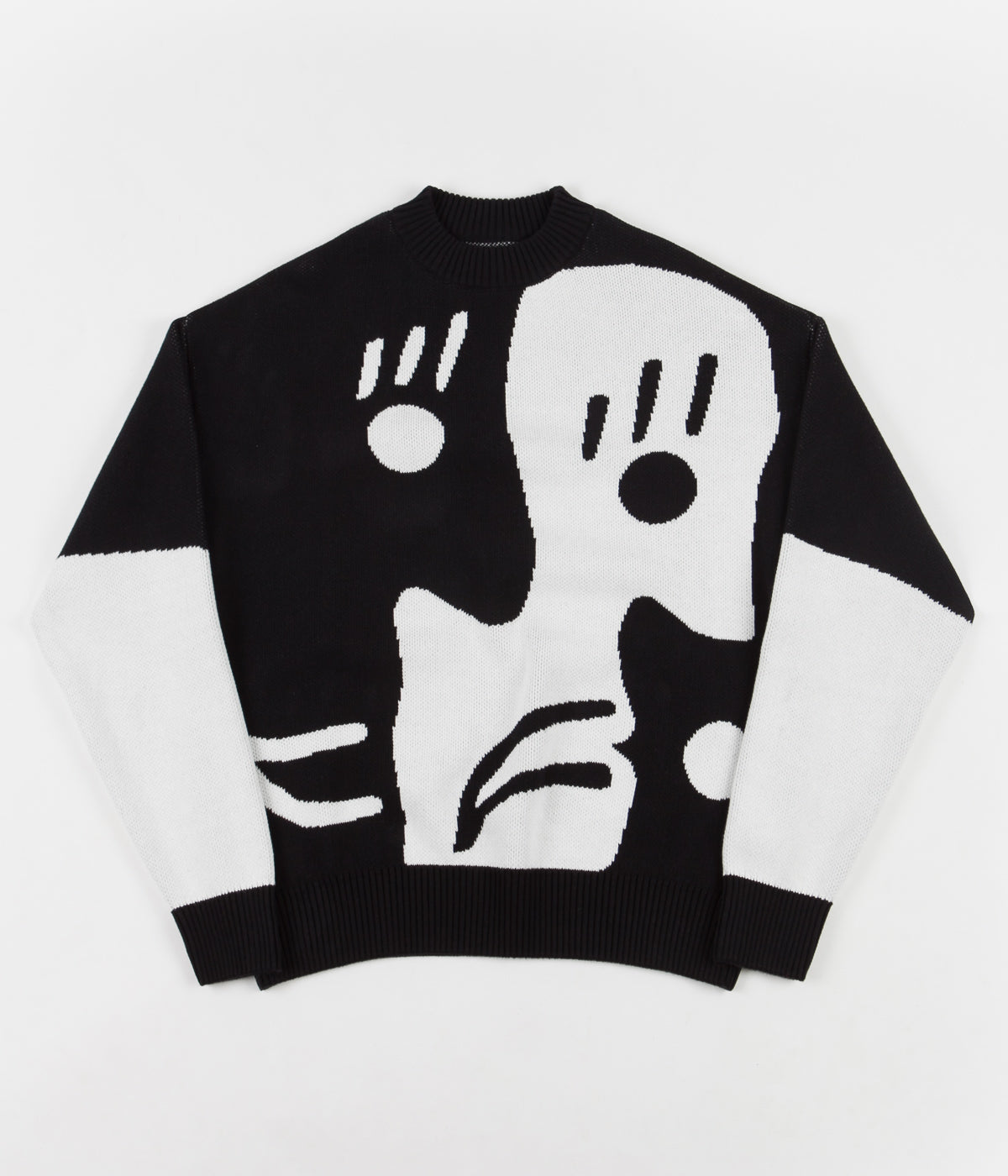 Polar Art Knit Sweatshirt - Alv / Black