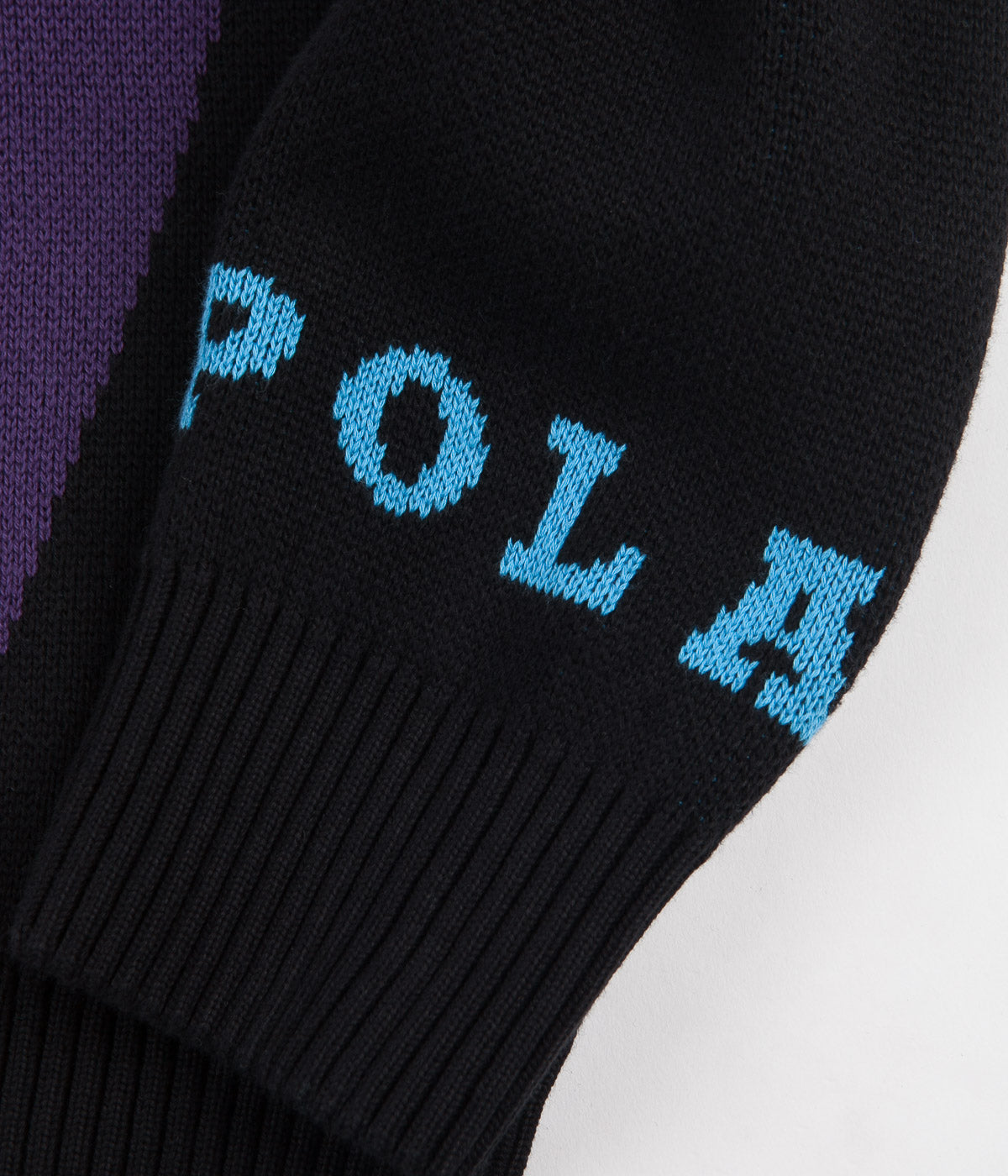 Polar Art Knit Sweatshirt - Selfie / Black