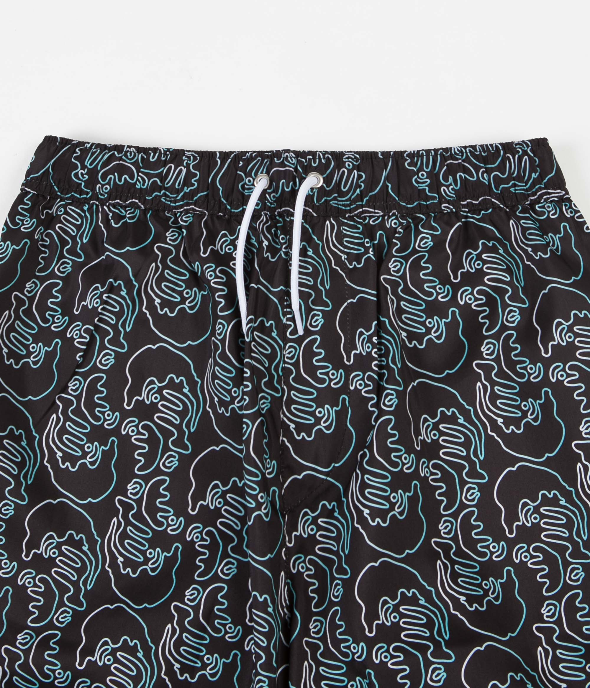 Polar Art Swim Shorts - Black