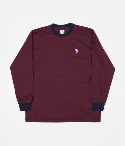 f1e02a8d32 Polar Big Boy Microstripe Long Sleeve T-Shirt - Navy   Burgundy