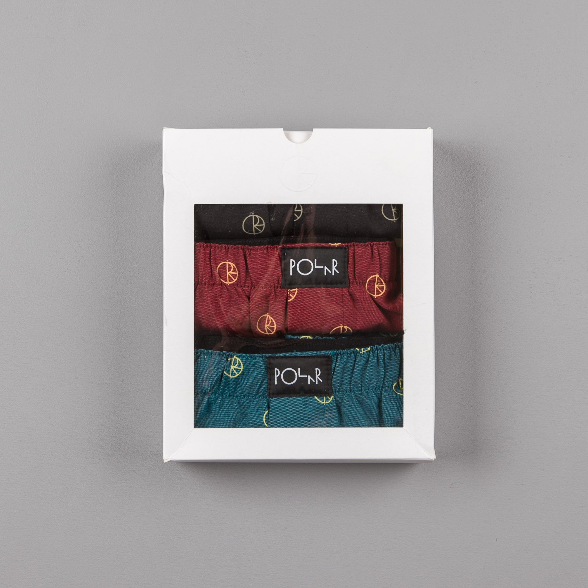 Polar Boxer Shorts (3 Pack) - Black / Dark Teal / Burgundy
