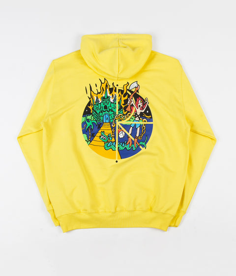 Polar Castle Fill Logo Hoodie - Yellow