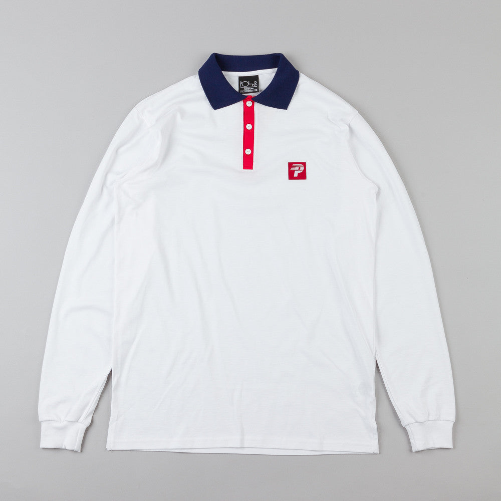 Polar Champion Borg L/S Polo Shirt White