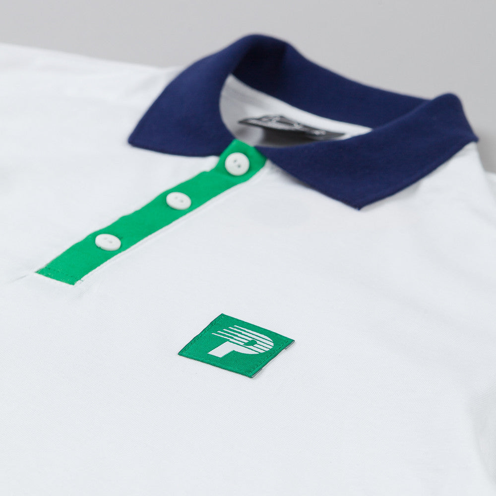 Polar Champion Borg Short Sleeve Polo Shirt White