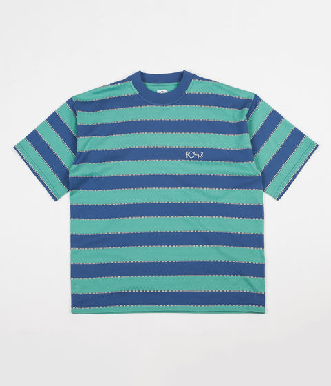 Polar Checkered Surf T-Shirt - Blue / Peppermint