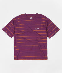 Polar Checkered Surf T-Shirt - Wine Red