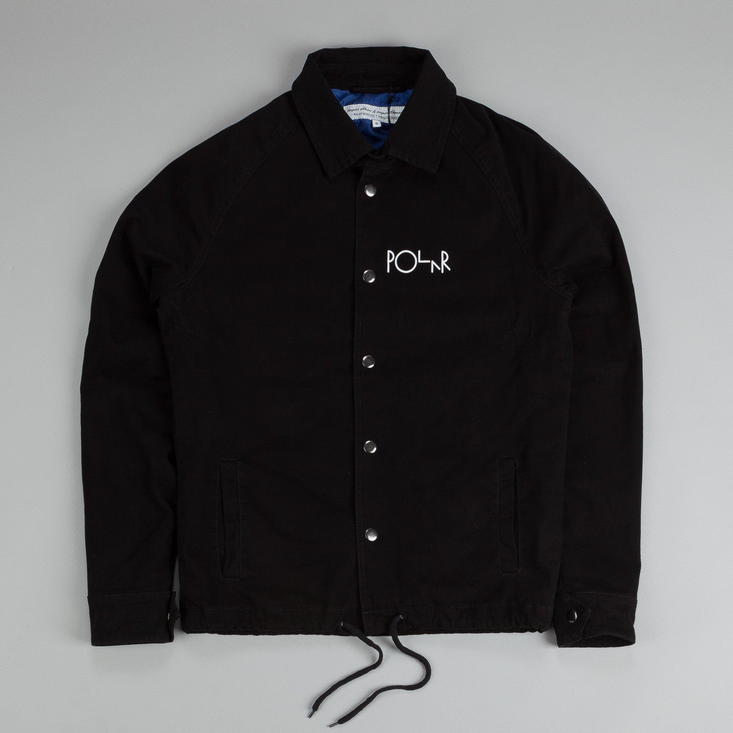 Polar Coach Jacket Black / Blue / White Stroke Logo