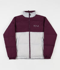 Polar Combo Puffer Jacket - Prune / Ice Grey