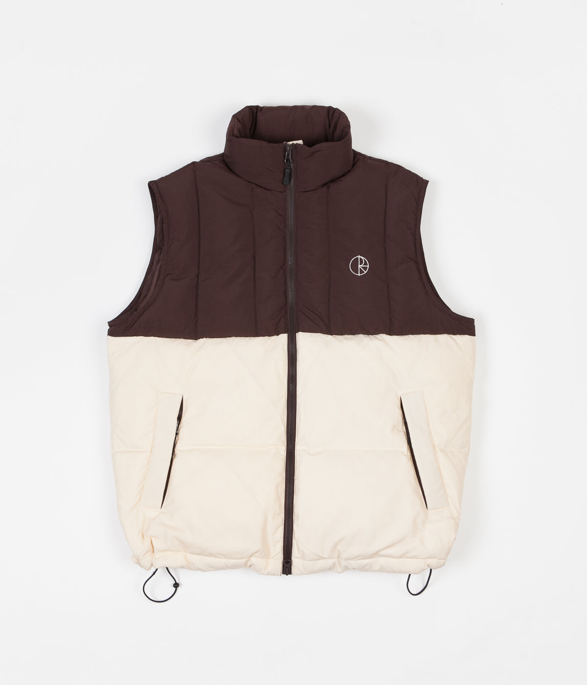 Polar Combo Puffer Vest - Brown / Cream