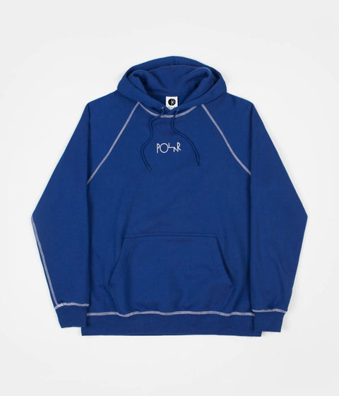 Polar Contrast Default Hoodie - Dark Blue / White