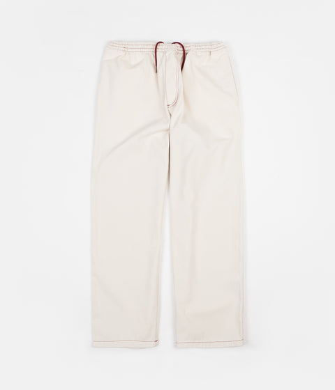 Polar Contrast Karate Pants - Ecru / Burgundy