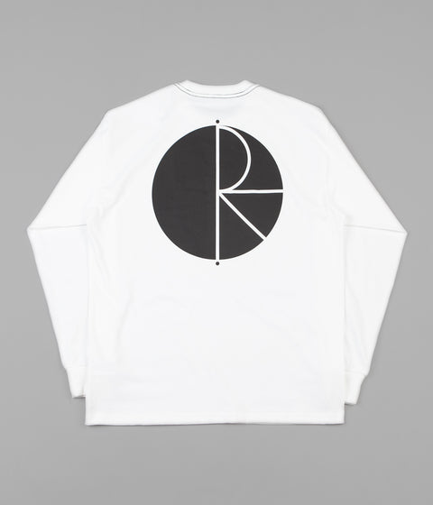 Polar Contrast Long Sleeve T-Shirt - White