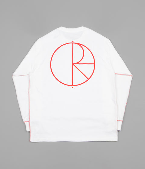 Polar Contrast Long Sleeve T-Shirt - White / Red