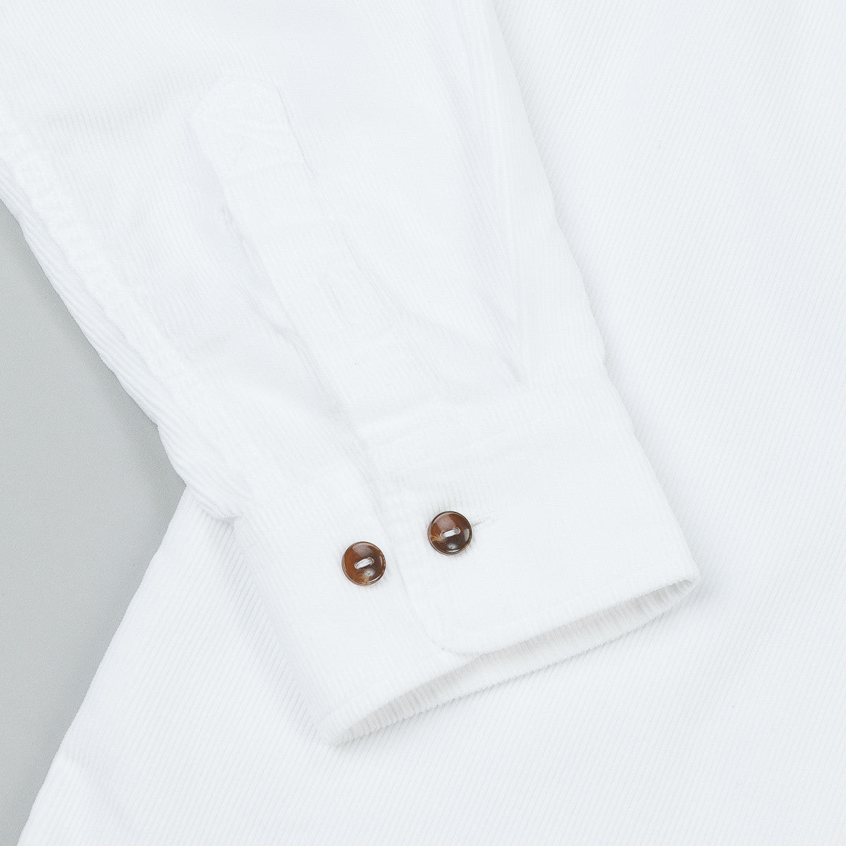 Polar Corduroy Shirt - White