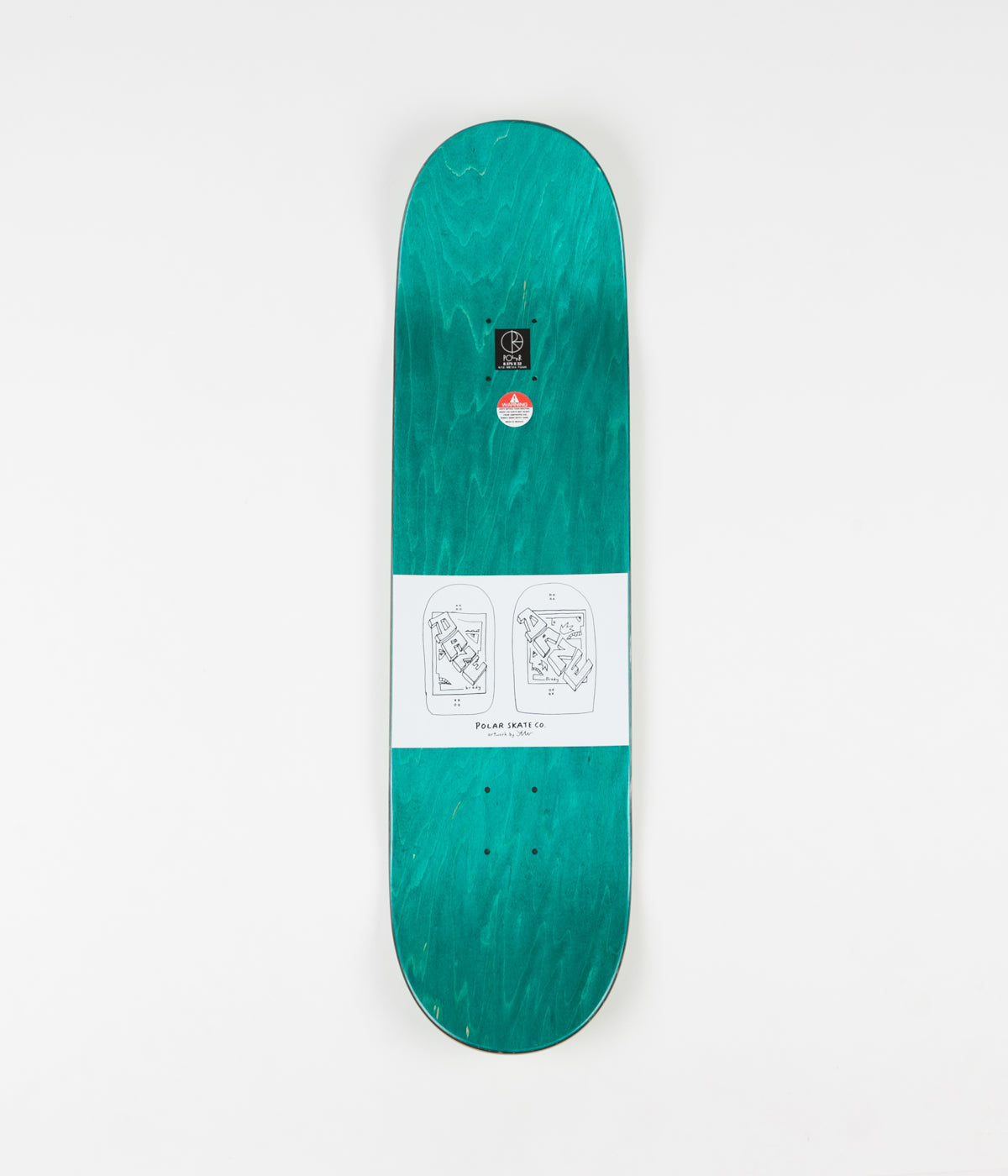 Polar Dane Brady Cake Face Deck - Green - 8.38""