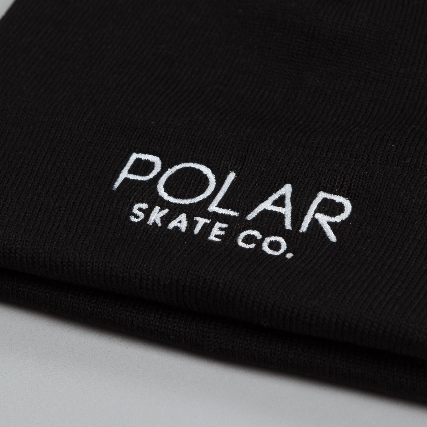 Polar Default Beanie Black / White Embroidery