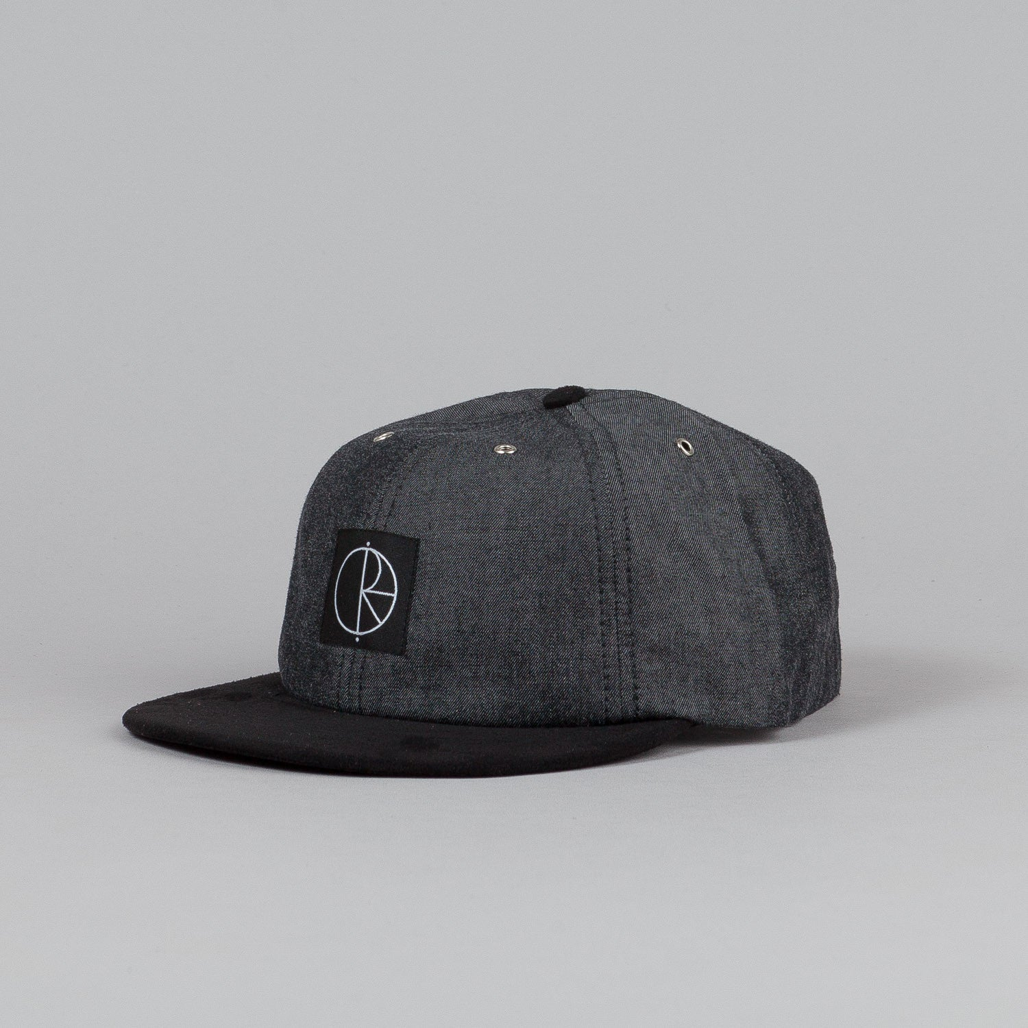 Polar Denim Cap Black Denim / Black Suede / Black Leather
