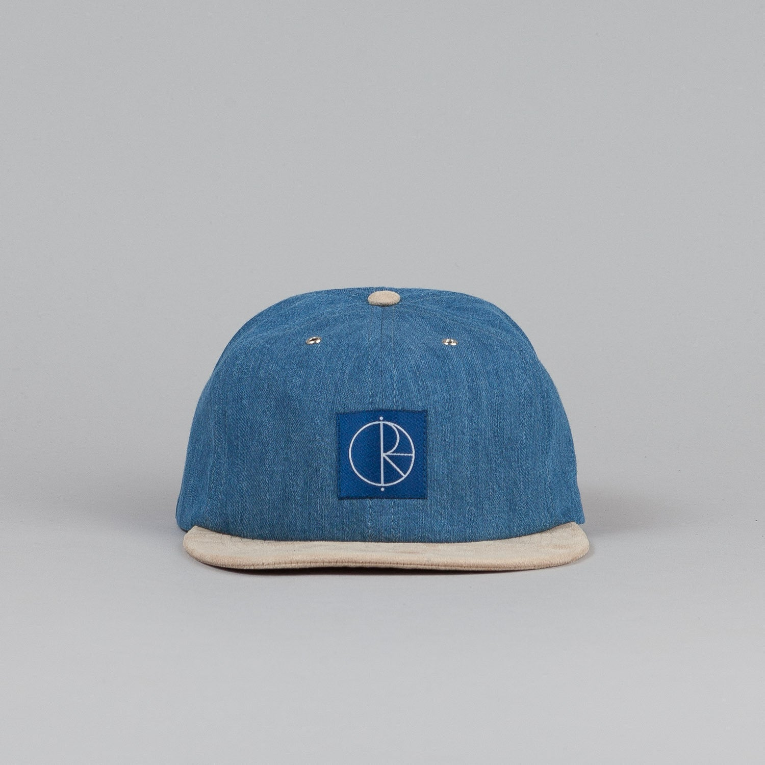 Polar Soft Denim Cap Blue Denim / Soft Yellow / Brown Leather