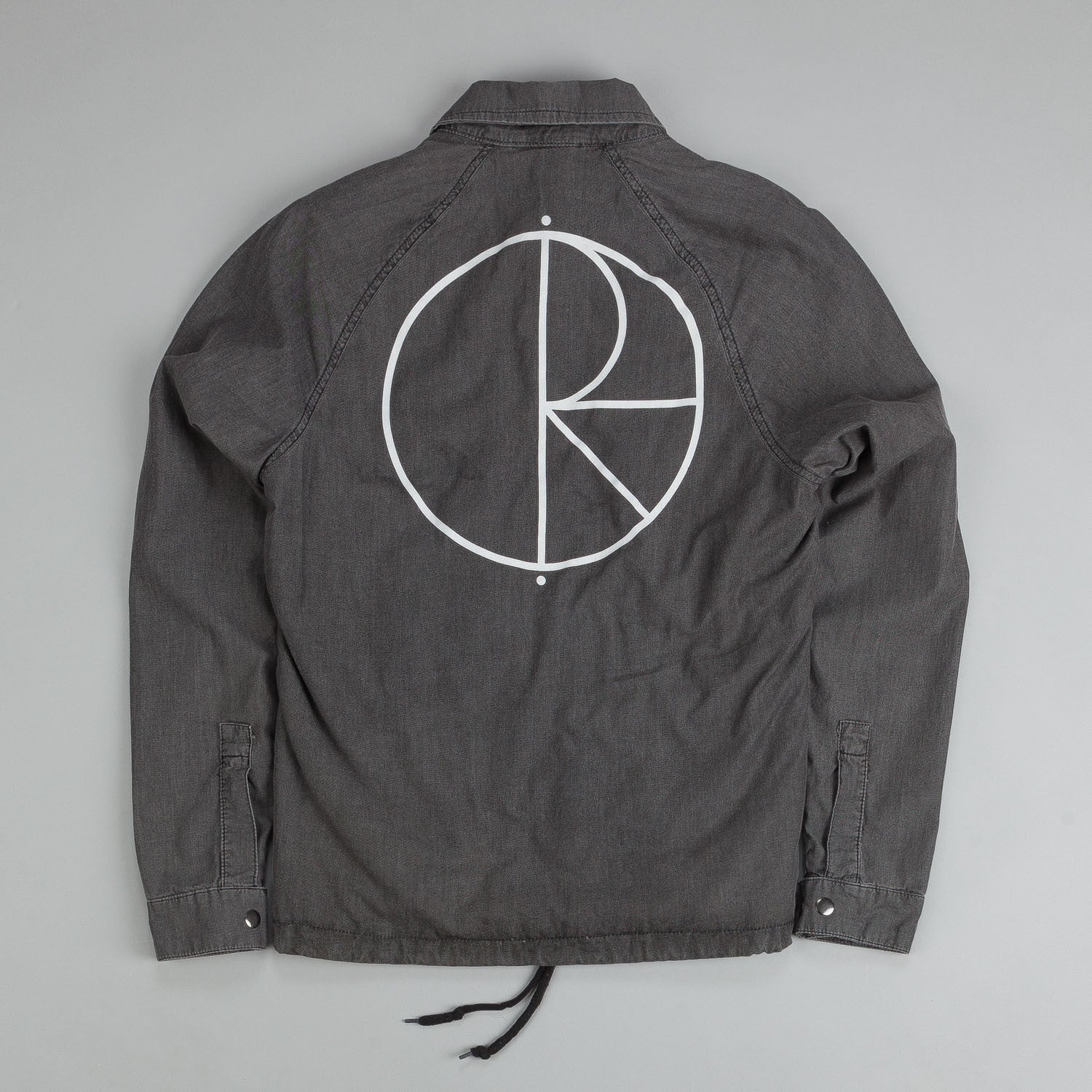 Polar Denim Coach Jacket Black / White Stroke Logo