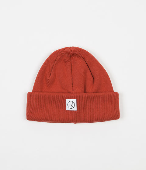 Polar Double Fold Beanie - Brick Red