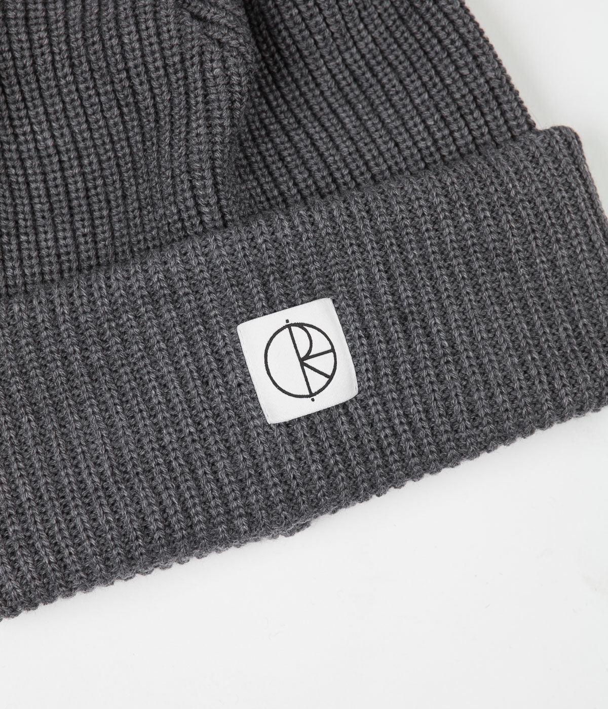 Polar Double Fold Merino Beanie - Heather Grey