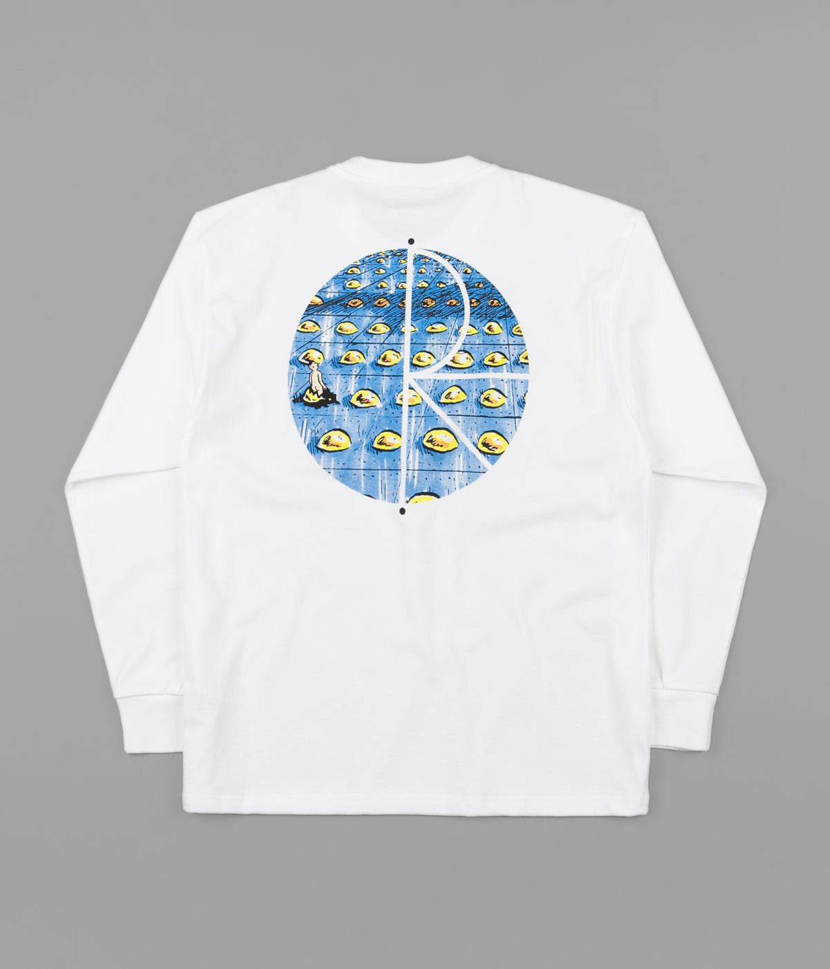 Polar Dragons Nest Fill Logo Long Sleeve T-Shirt - White