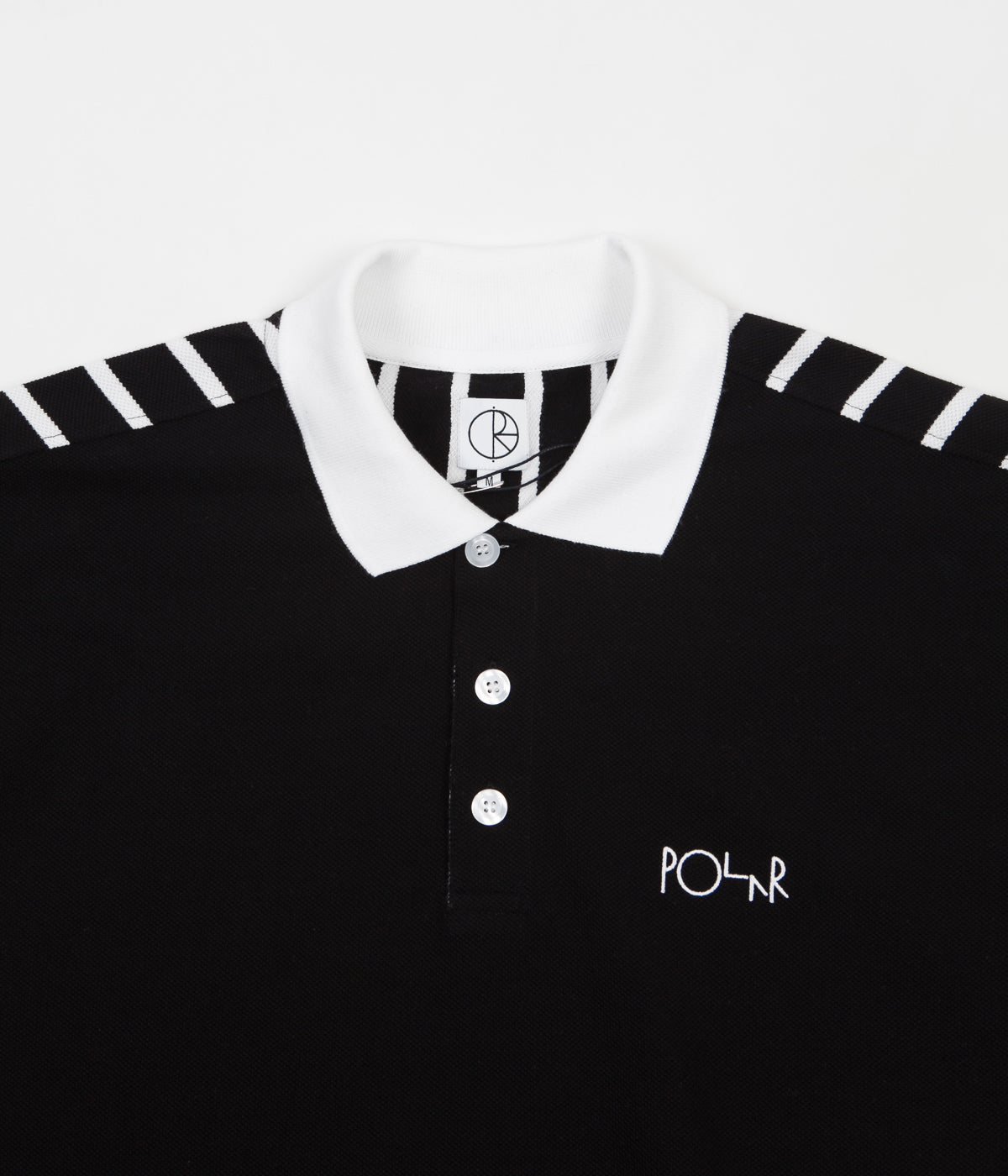 Polar Duo Pique Polo Shirt - Black