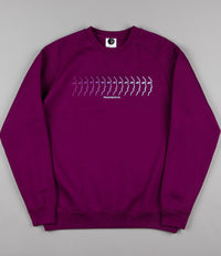 Polar Faded Face Sweatshirt - Dark Prune
