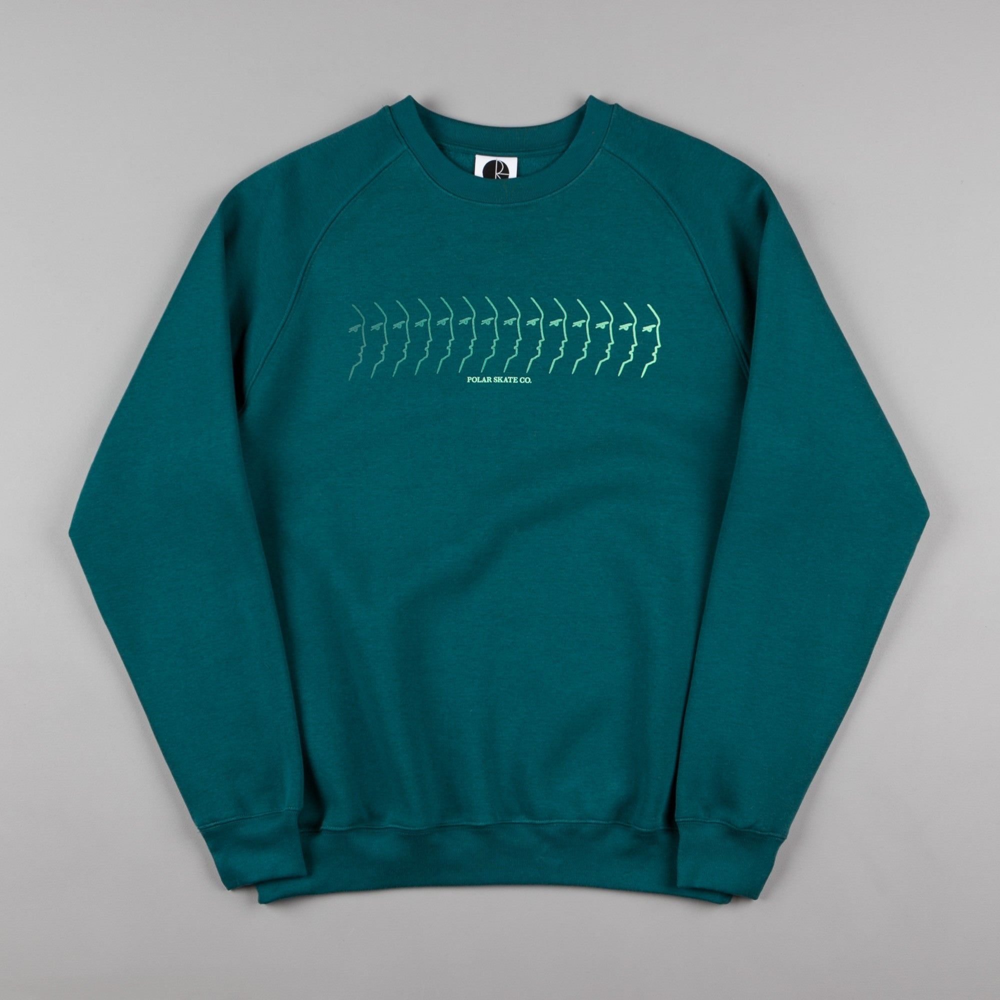 Polar Faded Face Sweatshirt - Dark Teal