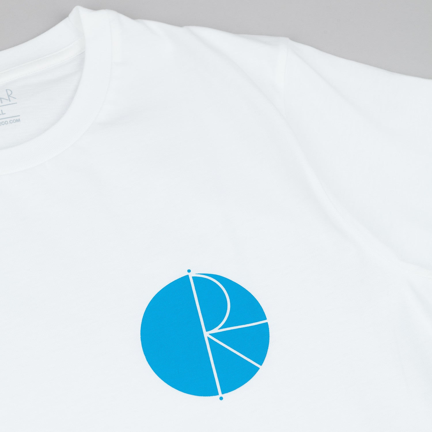 Polar Fill Logo And Label T-Shirt - White / Blue