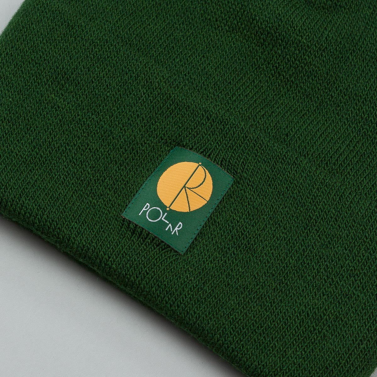 Polar Fill Logo Beanie - Botanical Green / Orange