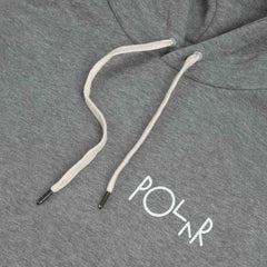 Polar Fill Logo - Behind The Curtain Hood Grey Heather / White - White