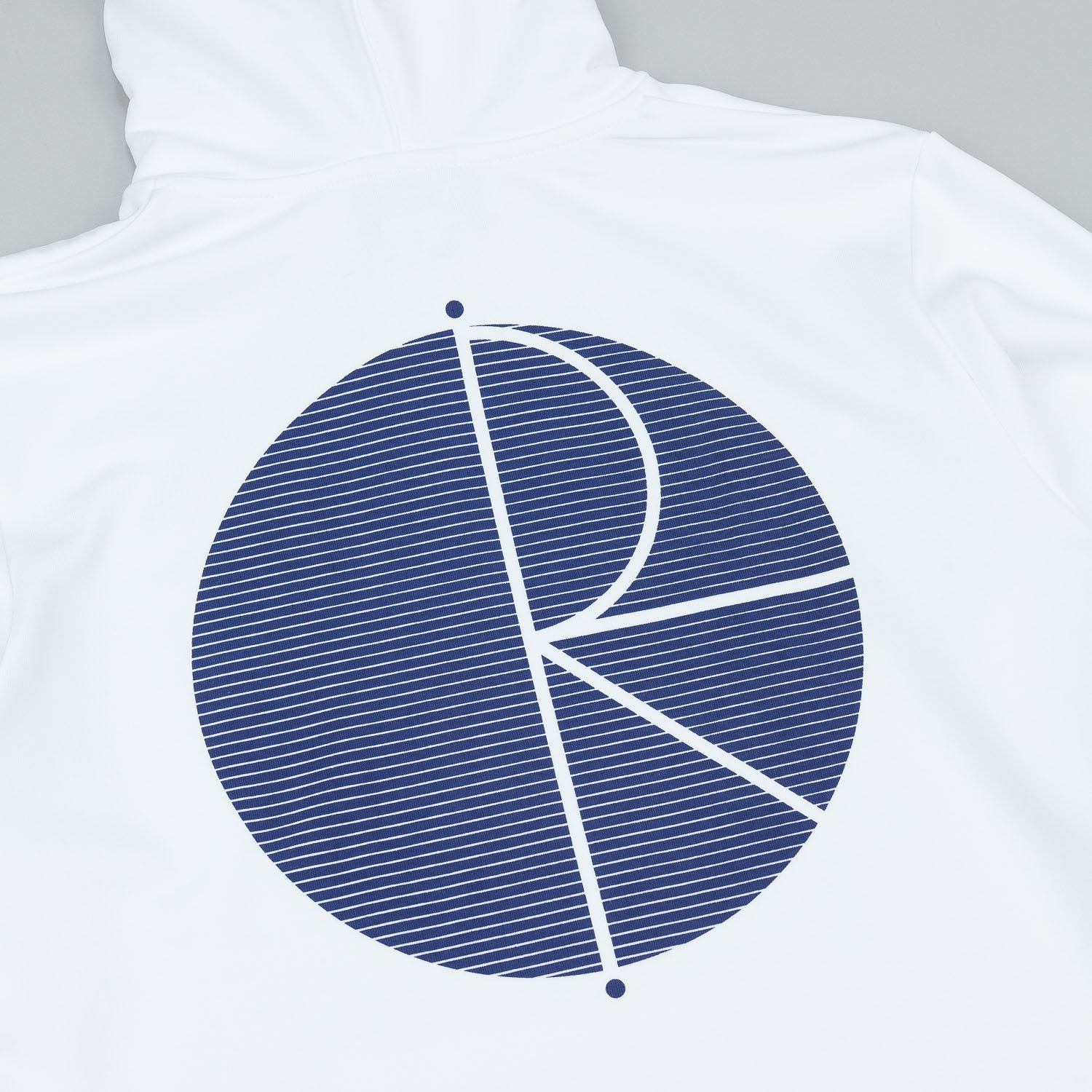 Polar Fill Logo Behind The Curtain Hooded Sweatshirt - White / Navy