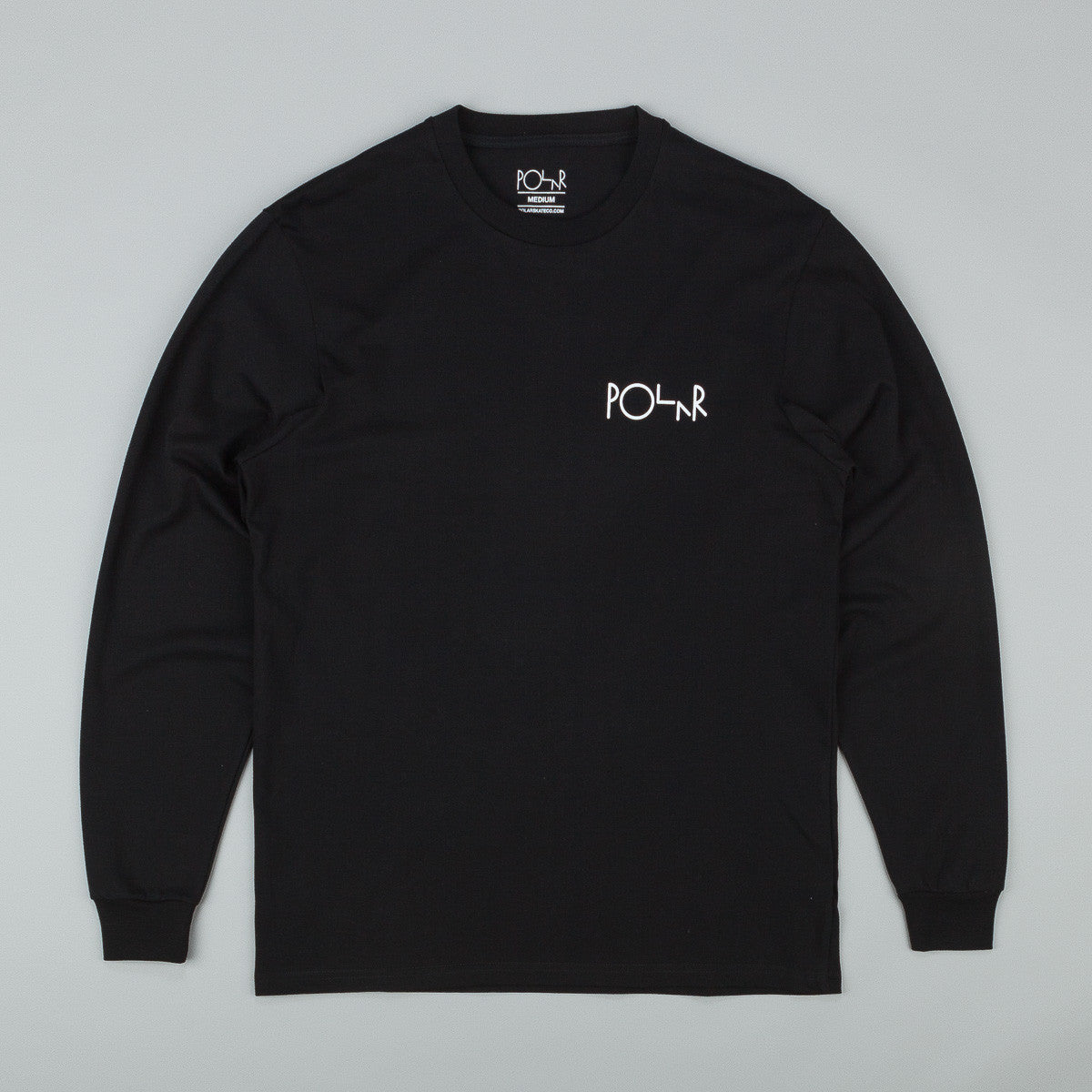 Polar Fill Logo Behind The Curtain Longsleeve T-Shirt - Black / White