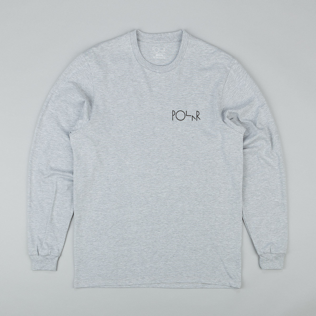 Polar Fill Logo Behind The Curtain Long Sleeve T-Shirt - Grey Heather / Black
